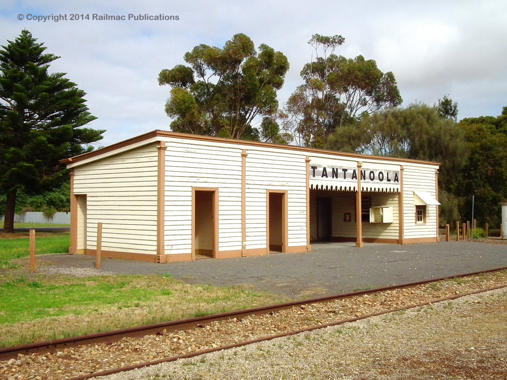 (SM 12-12-1830) The restored Tantanoola Railway Station (SA), December 2012