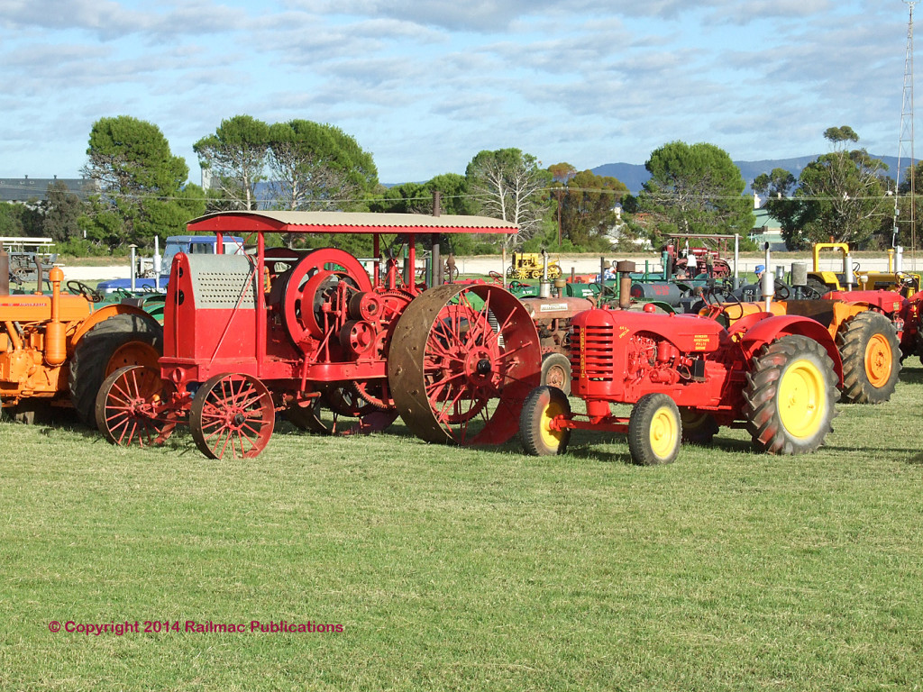 (SM 12-3-2380) Vintage tractors on display at the Booleroo Steam & Traction Rally, March 2012