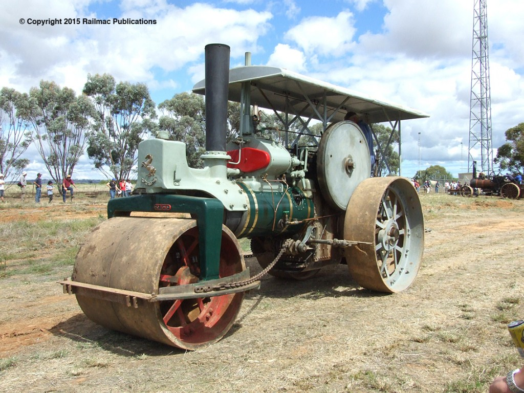 (SM 12-3-2615) An Aveling & Porter Steam Roller at the Booleroo Steam & Traction Rally (SA) in March 2012