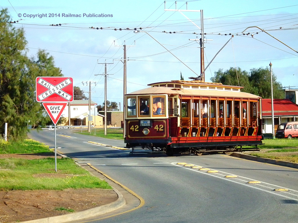 (SM 12-8-5392) No. 42 working on the St Kilda Tramway (SA), August 2012