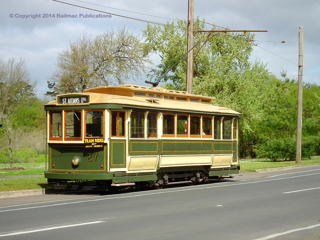 (SM 13-10-2364) Ballarat Tramway No. 27, October 2013