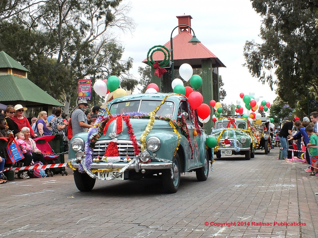 (SM 14-11-8996) Two Morris Oxfords in the Salisbury Christmas Pageant (SA), November 2014