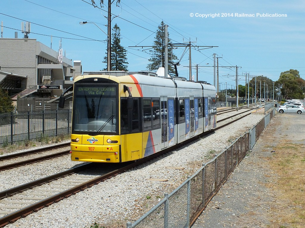 (SM 14-11-9154) Flexity No. 107 at Morphetville Racecourse (SA), November 2014