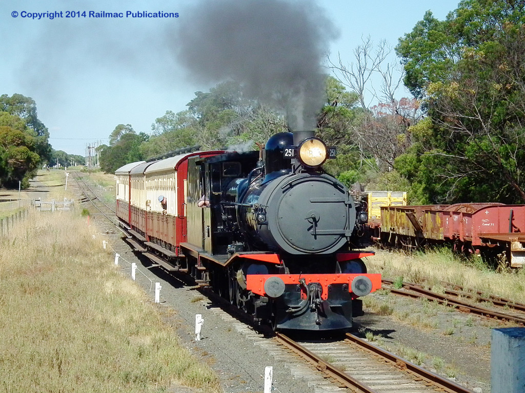 (SM 14-3-9257) T251 arriving at Drysdale, 9th March 2014
