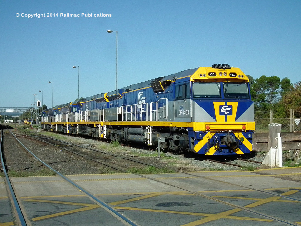 (SM 14-4-1679) CF4403, CF4410, CF4409 and CF4401 at Parkes, April 2014