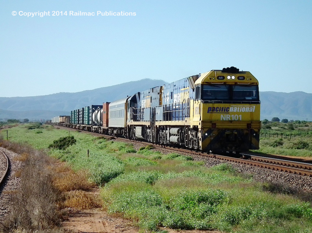 (SM 14-6-3034) NR101, NR103, near Port Augusta, 6th June 2014