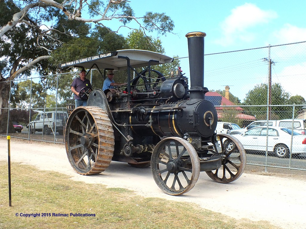 (SM 15-3-2015) Fowler traction engine at the 2015 Power of the Past at Mount Barker SA