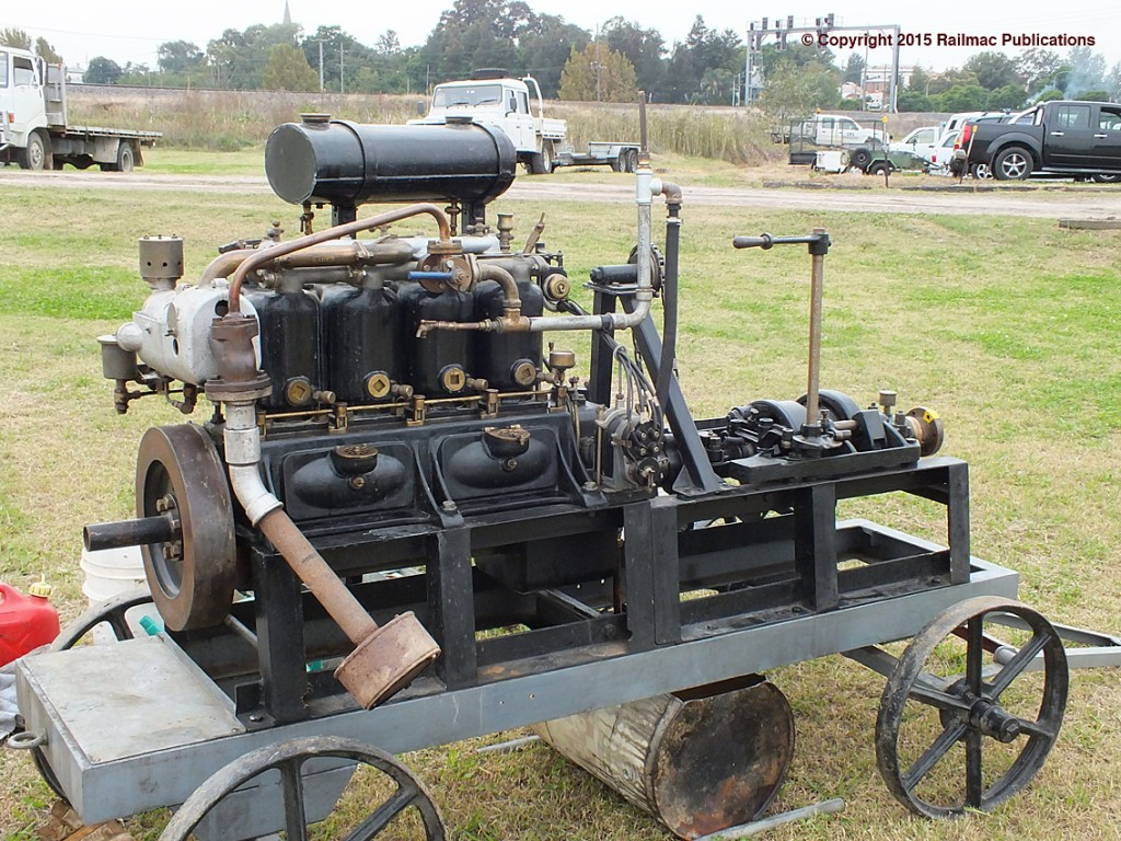 (SM 15-4-6641) Gardner 4 BCR marine engine at Maitland Steamfest (NSW), April 2015