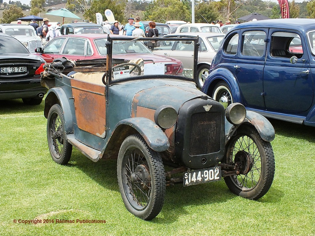 (SM 16-2-5629) An unrestored vintage Austin 7 on display at the South Australian All British Day in February 2016.