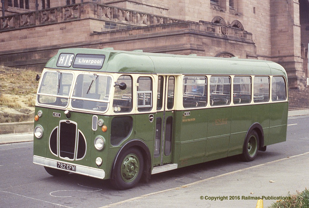 (SM 83-3115) Preserved Crosville fleet number SC12 at Liverpool, 28th September 1983.