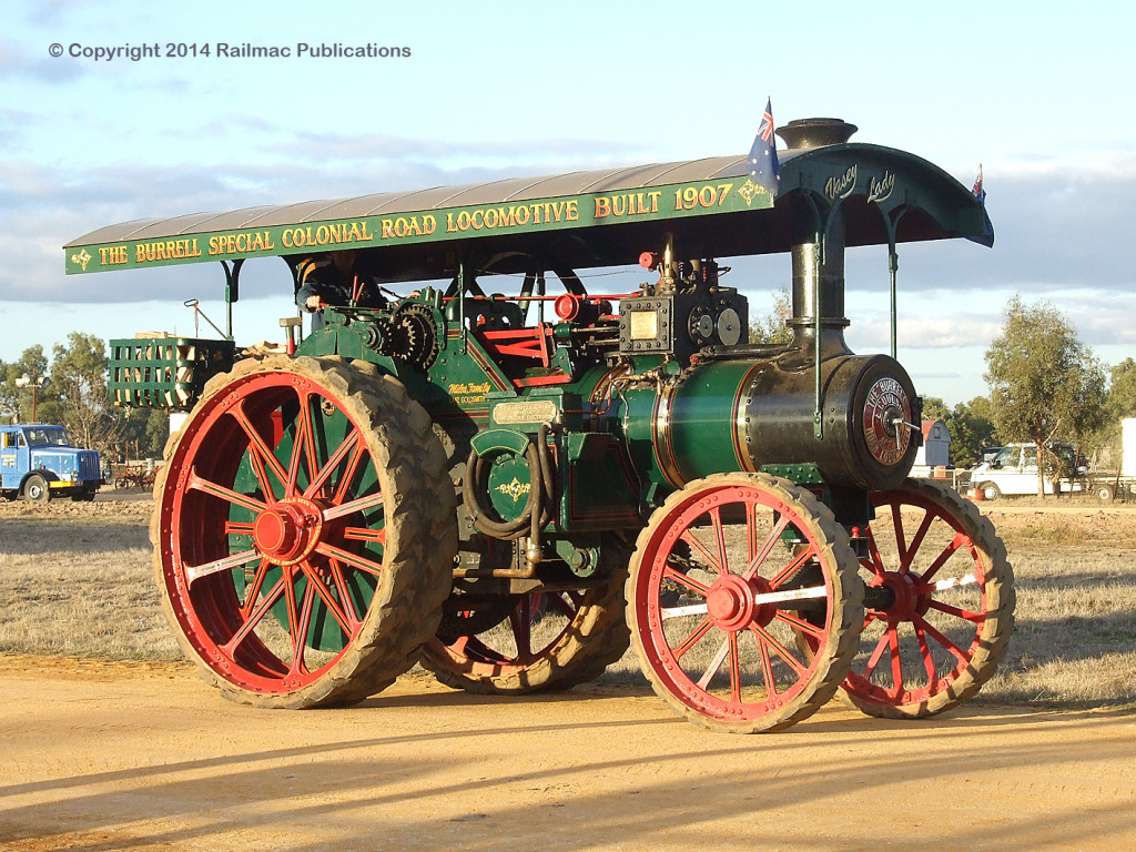 (SM 9-5-6870) 1907 Burrell Traction Engine at Lake Goldsmith Steam Rally, May 2009