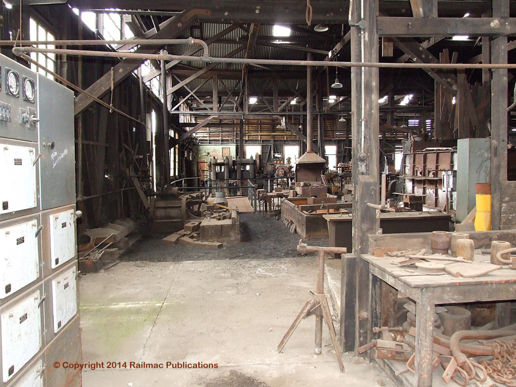 (SM 7-9-2614) Blacksmith's Shop at the former TGR Workshops at Inveresk (Tas), now part of the Queen Victoria Museum, September 2007